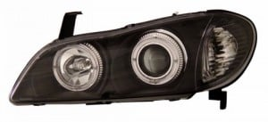 2000-2001 INFINITI I-30 PROJECTOR HEADLIGHTS (PAIR) HALO BLACK CLEAR   (Anzo USA)