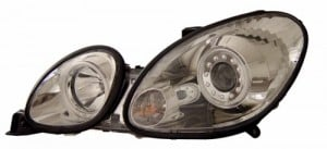 1998-2005 LEXUS GS 300 PROJECTOR HEADLIGHTS (PAIR) HALO CHROME CLEAR (CCFL)  (Anzo USA)