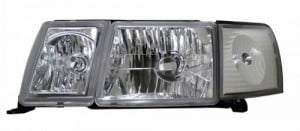 1993-1994 LEXUS LS-400 HEADLIGHTS (PAIR) CHROME WITH SIDE MARKER LIGHT  (Anzo USA)