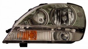 2001-2003 LEXUS RX 300 HEADLIGHTS (PAIR) HALO CHROME CLEAR (CCFL)  (CG Distribution)