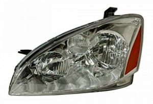 2002-2004 NISSAN ALTIMA HEADLIGHTS (PAIR) CRYSTAL CLEAR AMBER  (Anzo USA)