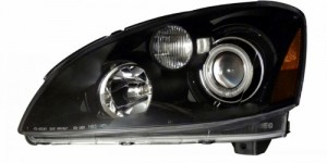 2002-2004 NISSAN ALTIMA PROJECTOR HEADLIGHTS (PAIR) BLACK CLEAR AMBER(CCFL)   (CG Distribution)