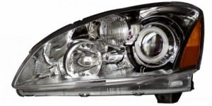 2002-2004 NISSAN ALTIMA PROJECTOR HEADLIGHTS (PAIR) CHROME CLEAR AMBER(CCFL)   (CG Distribution)