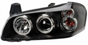 2000-2001 NISSAN MAXIMA PROJECTOR HEADLIGHTS (PAIR) HALO BLACK CLEAR   (CG Distribution)