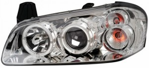 2000-2001 NISSAN MAXIMA PROJECTOR HEADLIGHTS (PAIR) HALO CHROME CLEAR   (Anzo USA)