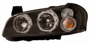 2002-2003 NISSAN MAXIMA HEADLIGHTS (PAIR) HALO BLACK  (Anzo USA)