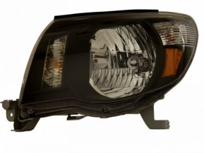 2005-2009 TOYOTA TACOMA HEADLIGHTS (PAIR) BLACK AMBER  (Anzo USA)