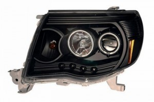 2005-2009 TOYOTA TACOMA PROJECTOR HEADLIGHTS (PAIR) W/O CCFL BAR BLACK CLEAR AMBER(CCFL)  (CG Distribution)