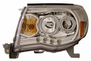 2005-2009 TOYOTA TACOMA PROJECTOR HEADLIGHTS (PAIR) W/O CCFL BAR CHROME CLEAR AMBER(CCFL)  (Anzo USA)