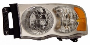 2002-2005 DODGE RAM CRYSTAL HEADLIGHTS (PAIR) CLEAR AMBER  (Anzo USA)