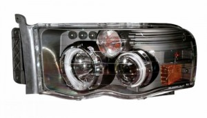 2002-2005 DODGE RAM PROJECTOR HEADLIGHTS (PAIR) G2 W/O CCFL BAR HALO BLACK CLEAR AMBER (CCFL)  (Anzo USA)