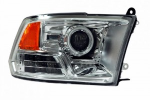 2009-2011 DODGE RAM PROJECTOR HEADLIGHTS (PAIR) HALO LED CHROME AMBER (CCFL)  (Anzo USA)
