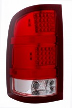 2007-2008 GMC SIERRA LED TAIL LIGHTS (PAIR) RED/CLEAR  (Anzo USA)