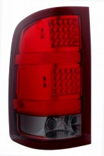 2007-2008 GMC SIERRA LED TAIL LIGHTS (PAIR) RED/SMOKE  (CG Distribution)