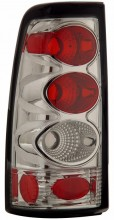 1999-2002 CHEVY SILVERADO TAIL LIGHTS (PAIR) CHROME  (CG Distribution)