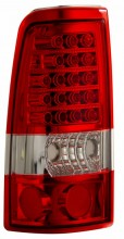 1999-2002 CHEVY SILVERADO LED TAIL LIGHTS (PAIR) RED/CLEAR   (Anzo USA)
