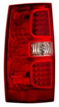 2007-2013 CHEVY SUBURBAN LED TAIL LIGHTS (PAIR) RED/CLEAR   (CG Distribution)
