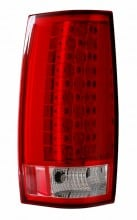 2007-2013 CHEVY SUBURBAN LED G4 TAIL LIGHTS (PAIR) RED/CLEAR (ESCALADE LOOK)  (CG Distribution)