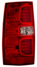 2007-2013 CHEVY SUBURBAN TAIL LIGHTS (PAIR) RED/CLEAR   (CG Distribution)