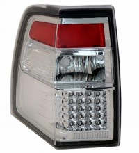 2007-2013 FORD EXPEDITION LED TAIL LIGHTS (PAIR) ALL CHROME  (Anzo USA)