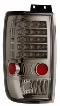 1997-2002 FORD EXPEDITION LED TAIL LIGHTS (PAIR) ALL CHROME   (CG Distribution)