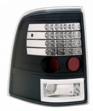 2002-2004 FORD EXPLORER LED TAIL LIGHTS (PAIR) BLACK  (Anzo USA)