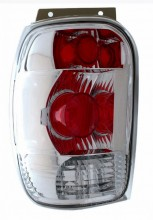 1998-2000 FORD EXPLORER TAIL LIGHTS (PAIR) CHROME  (Anzo USA)