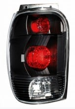 1998-2000 FORD EXPLORER TAIL LIGHTS (PAIR) BLACK   (CG Distribution)