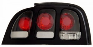 1994-1998 FORD MUSTANG TAIL LIGHTS (PAIR) BLACK   (Anzo USA)