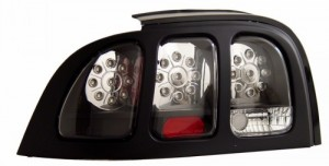 1994-1998 FORD MUSTANG LED TAIL LIGHTS (PAIR) BLACK   (CG Distribution)