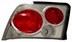1999-2004 FORD MUSTANG TAIL LIGHTS (PAIR) CHROME  (CG Distribution)