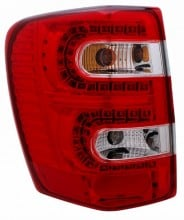 1999-2004 JEEP GRAND CHEROKEE LED TAIL LIGHTS (PAIR) RED/CLEAR  (CG Distribution)