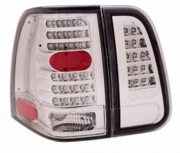 2003-2006 LINCOLN NAVIGATOR LED TAIL LIGHTS (PAIR) 4 PCS ALL CHROME  (Anzo USA)