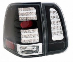 2003-2006 LINCOLN NAVIGATOR LED TAIL LIGHTS (PAIR) 4 PCS JDM-BLACK  (Anzo USA)