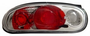 1990-1997 MAZDA MIATA TAIL LIGHTS (PAIR) CHROME  (Anzo USA)
