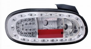 1998-2005 MAZDA MIATA LED TAIL LIGHTS (PAIR) ALL CHROME  (CG Distribution)