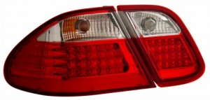 1998-2003 MBZ CLK 320 W2008 LED TAIL LIGHTS (PAIR) RED/CLEAR  (Anzo USA)