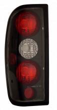 1998-2004 NISSAN FRONTIER TAIL LIGHTS (PAIR) BLACK   (Anzo USA)