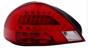 1999-2005 PONTIAC GRAND AM LED TAIL LIGHTS (PAIR) RED/CLEAR  (CG Distribution)