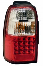 2001-2002 TOYOTA 4 RUNNER LED TAIL LIGHTS (PAIR) RED/CLEAR  (Anzo USA)
