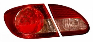 2003-2008 TOYOTA COROLLA LED TAIL LIGHTS (PAIR) RED/CLEAR 4 PCS  (CG Distribution)