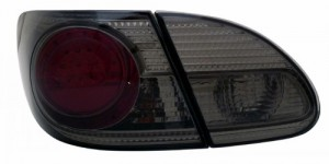 2003-2008 TOYOTA COROLLA LED TAIL LIGHTS (PAIR) RED/SMOKE 4 PCS  (CG Distribution)