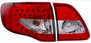 2009-2013 TOYOTA COROLLA LED TAIL LIGHTS (PAIR) RED/CLEAR 4 PCS  (Anzo USA)