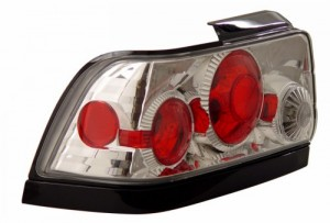 1993-1997 TOYOTA COROLLA TAIL LIGHTS (PAIR) CHROME (BLACK BELOW)  (Anzo USA)