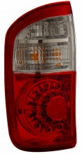 2000-2006 TOYOTA TUNDRA LED TAIL LIGHTS (PAIR) RED/CLEAR (DOUBLE CAB ,NOT FIT STEPSIDE)  (Anzo USA)