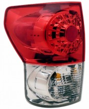 2007-2011 TOYOTA TUNDRA LED TAIL LIGHTS (PAIR) RED/CLEAR   (Anzo USA)