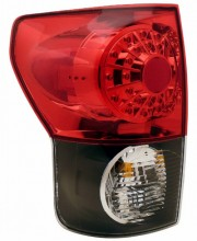 2007-2011 TOYOTA TUNDRA LED TAIL LIGHTS (PAIR) BLACK HOUSING RED/CLEAR LENS  (Anzo USA)