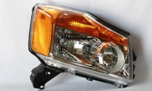 2008-2011 Nissan Titan Pickup Headlight Assembly - Right (Passenger)
