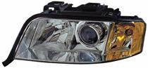 2002 - 2004 Audi A6 Front Headlight Assembly Replacement Housing / Lens / Cover - Left (Driver)