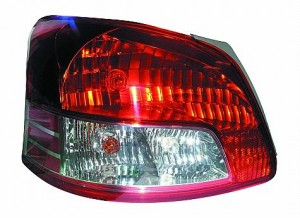 2007-2010 Toyota Yaris Tail Light Rear Brake Lamp (Sedan) - Left (Driver)